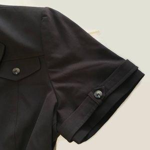 Tahari ASL Tops - Tahari ASL Brown top button shirt 12/XLP petiteE